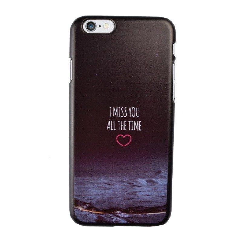 Plastový kryt pre iPhone 6/6S I MISS YOU