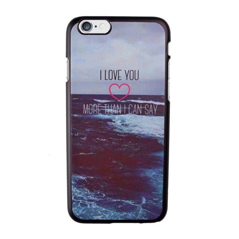Plastový kryt pre iPhone 6/6S I LOVE YOU
