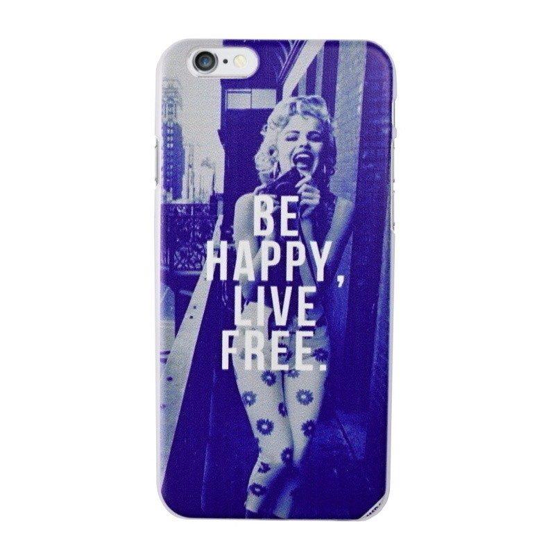 Plastový kryt pre iPhone 6/6S HAPPY LIVE