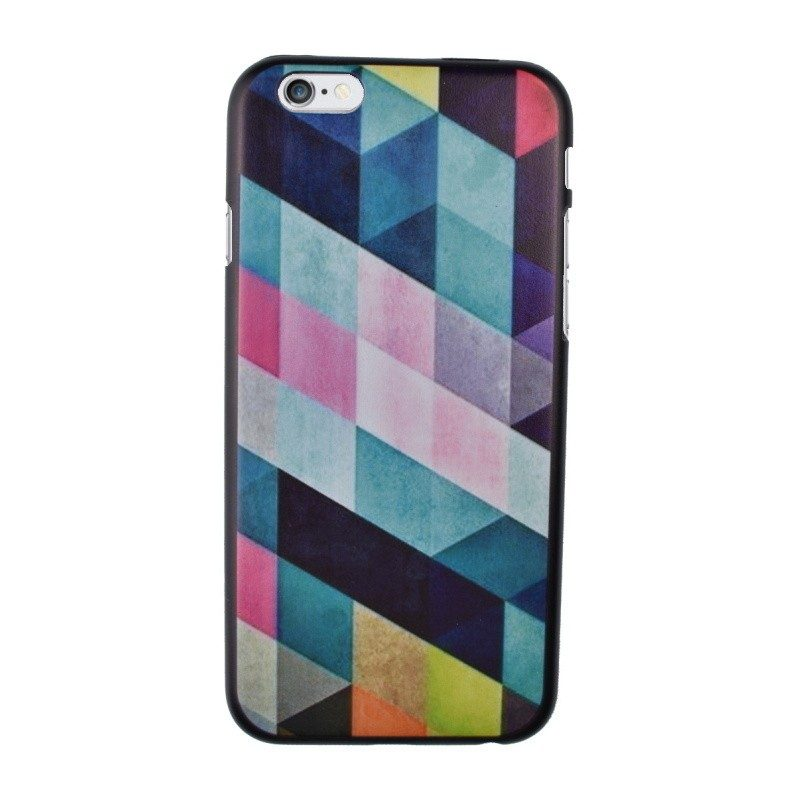 Plastový kryt pre iPhone 6/6S Cyan Geometric