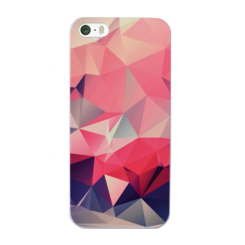 Plastový kryt pre iPhone 5/5S/SE Pink Geometric Art