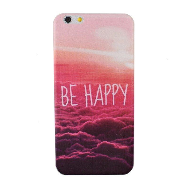 Silikónový kryt pre iPhone 6/6S Plus BE HAPPY