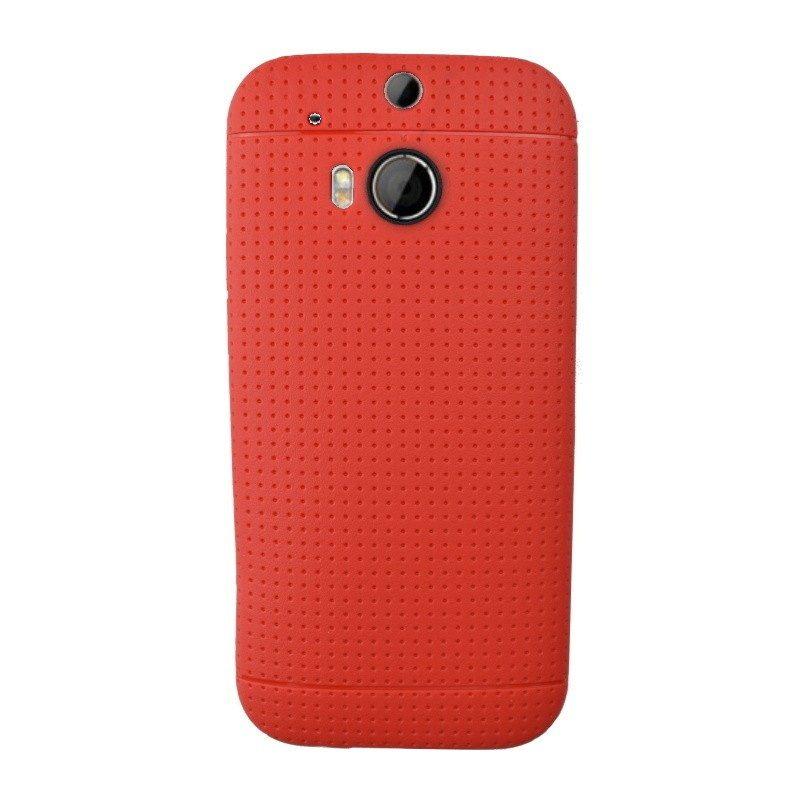 Silikónový kryt pre HTC One M8 RED