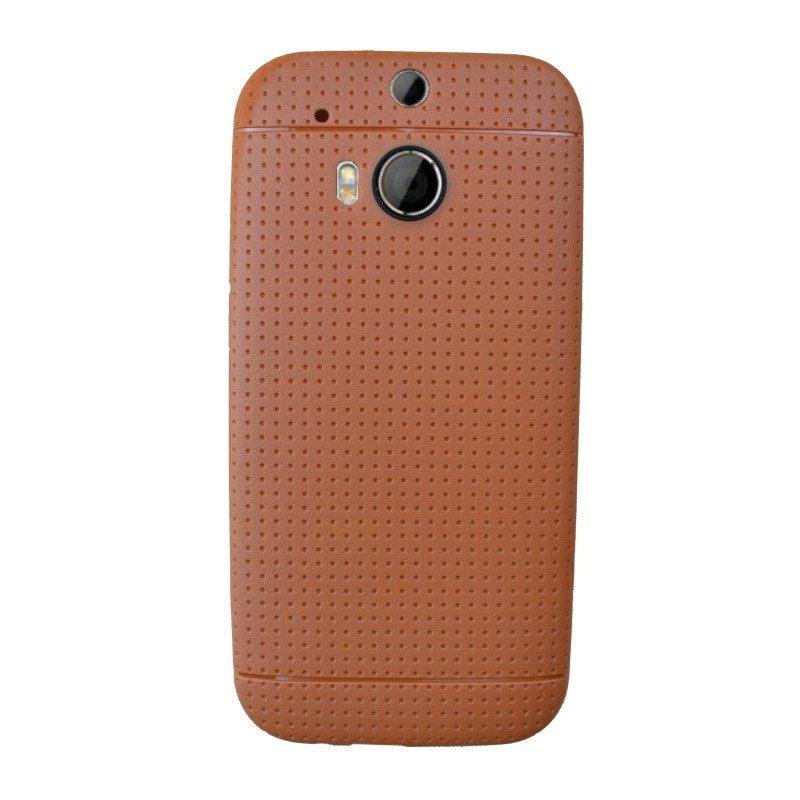 Silikónový kryt pre HTC One M8 BROWN