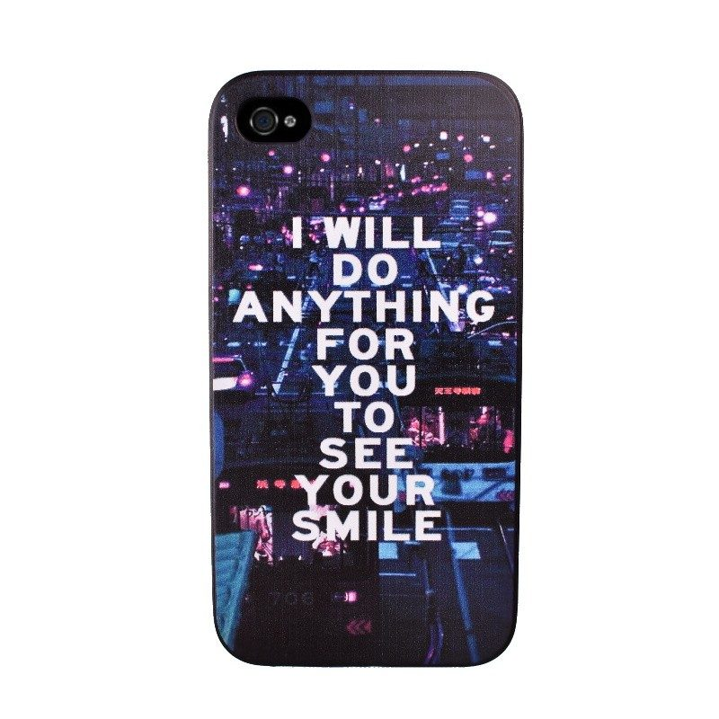 Plastový kryt pre iPhone 4/4S SMILE