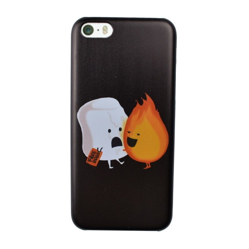 Plastový kryt pre iPhone 5C FIRE