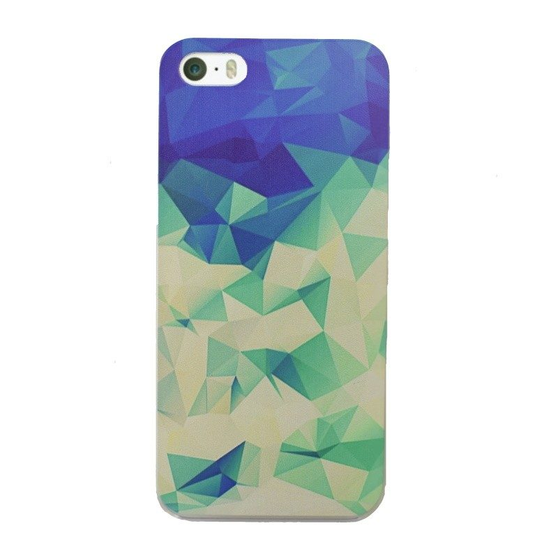 Plastový kryt pre iPhone 5/5S/SE Light Green GEOMETRIC