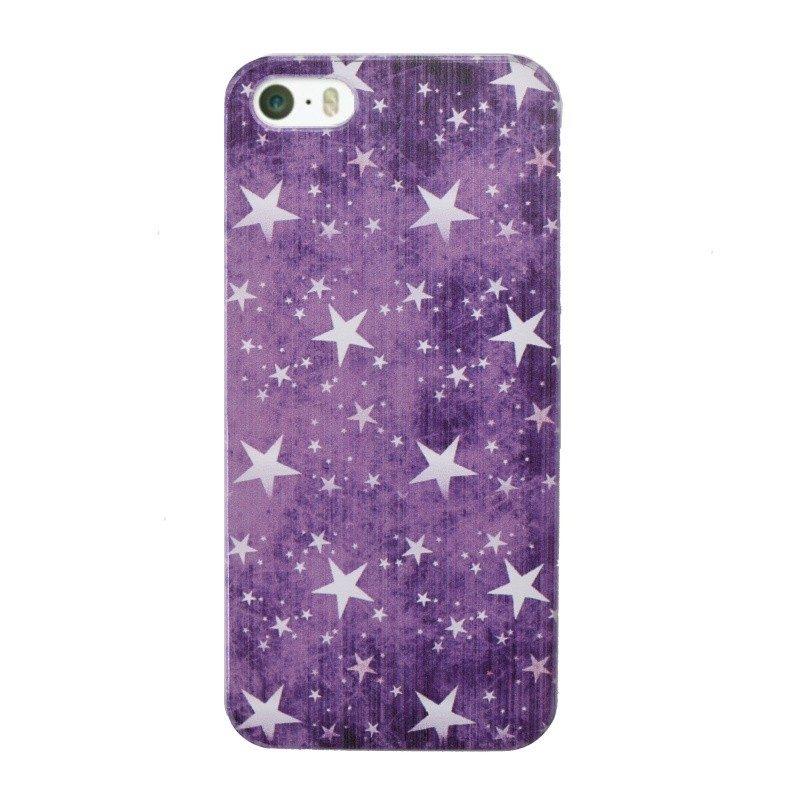 Plastový kryt pre iPhone 5/5S/SE Purple Stars
