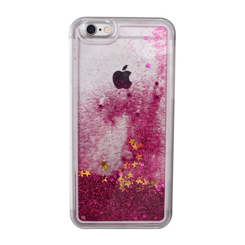 Presýpací plastový kryt pre iPhone 6/6S PINK