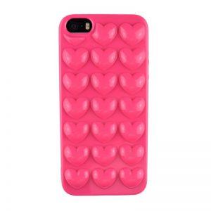 Silikónový 3D kryt pre iPhone 5/5S/SE HEART