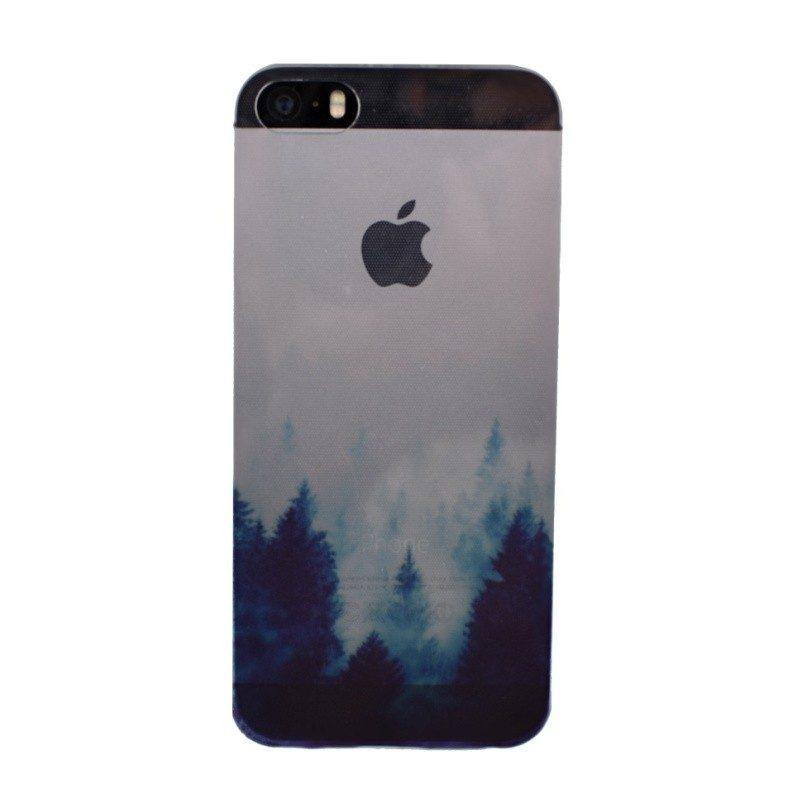 Silikónový kryt pre iPhone 5/5S/SE FOREST