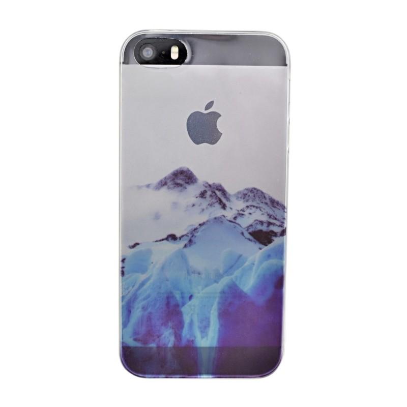 Silikónový kryt pre iPhone 5 5S SE BLUE MOUNTAINS  c779aa144cf