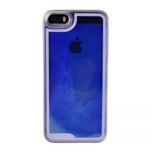Presýpací plastový kryt pre iPhone 5/5S/SE BLUE