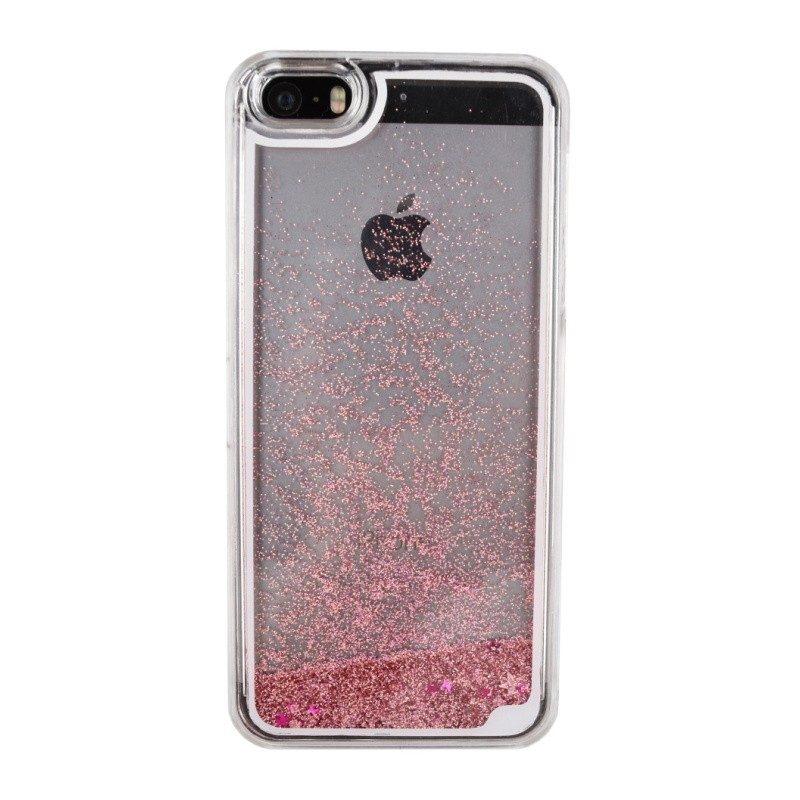 Presýpací plastový kryt pre iPhone 5/5S/SE PINK