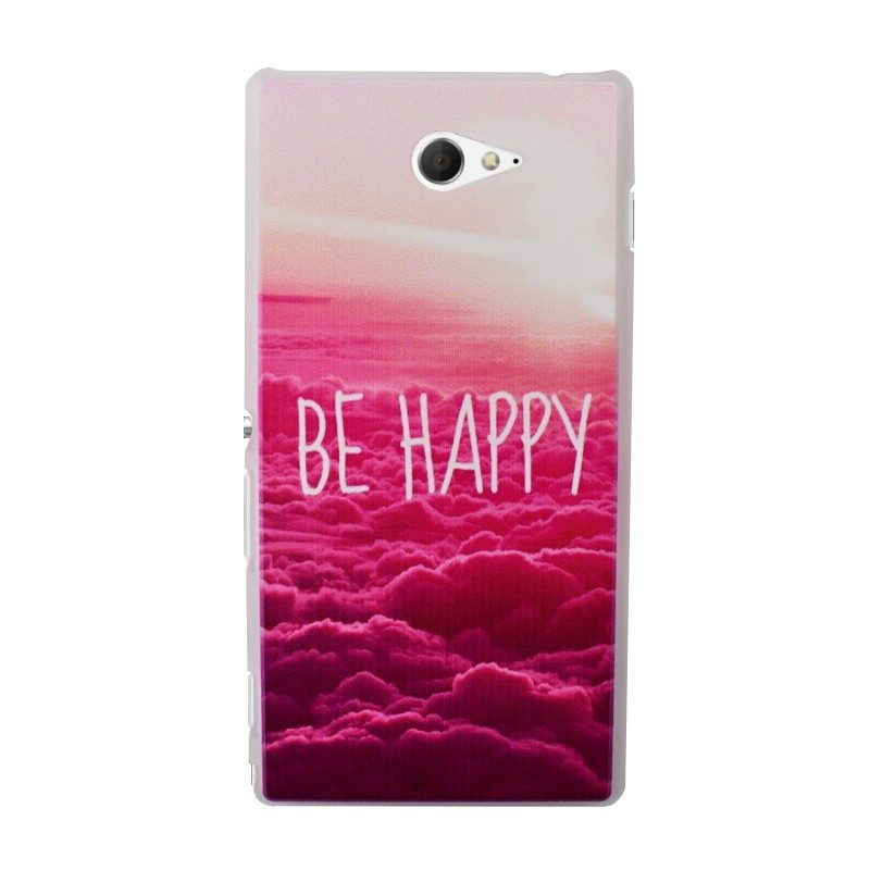 Plastový kryt pre Sony Xperia M2 BE HAPPY