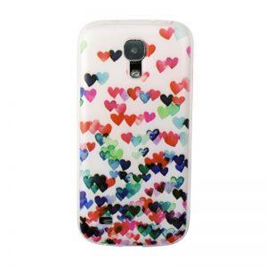 Silikónový kryt pre Samsung Galaxy S4 MINI HEARTS