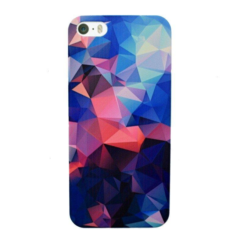 Plastový kryt pre iPhone 5/5S/SE DARK BLUE MOSAIC