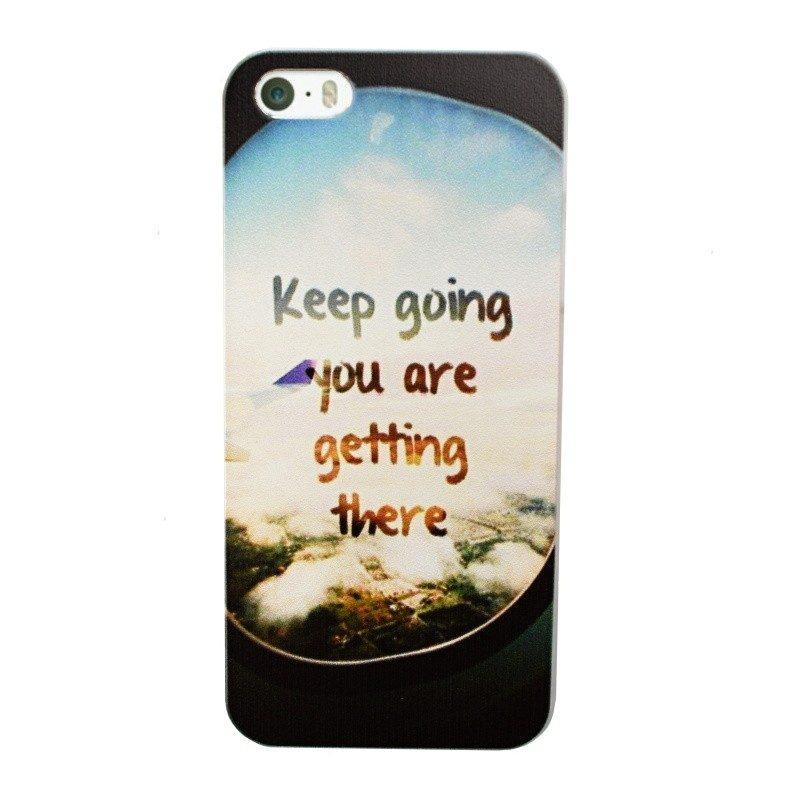 Plastový kryt pre iPhone 5/5S/SE KEEP GOING