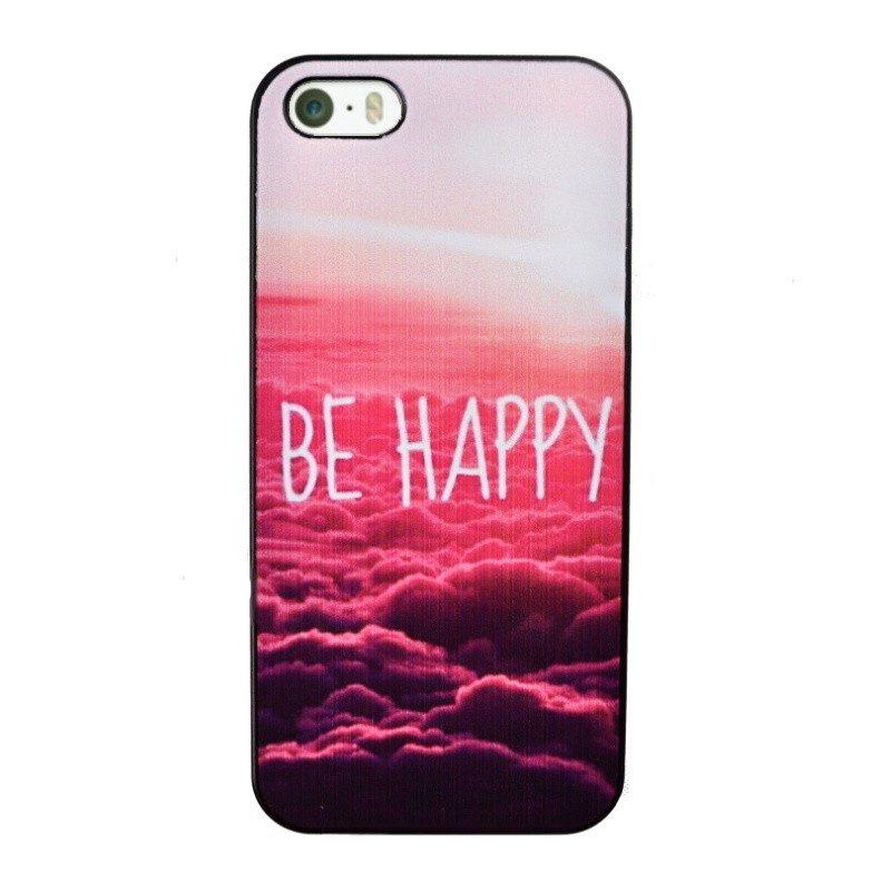 Plastový kryt pre iPhone 5/5S/SE BE HAPPY