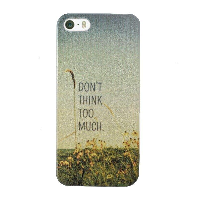 Plastový kryt pre iPhone 5/5S/SE THINK