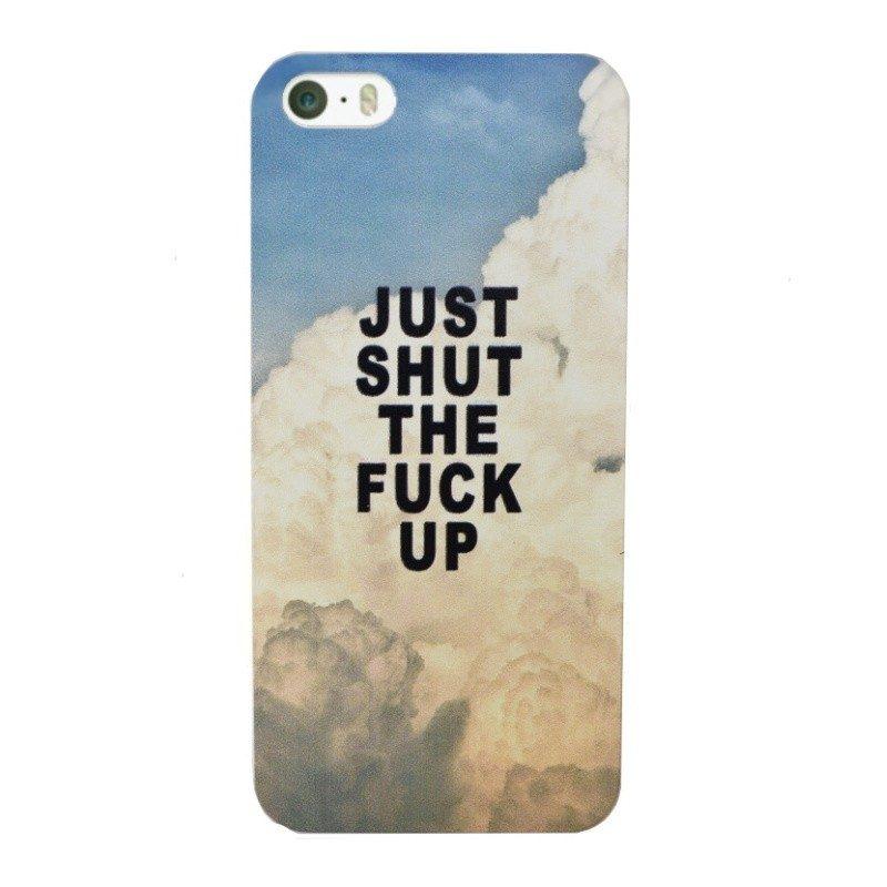 Plastový kryt pre iPhone 5/5S/SE SHUT