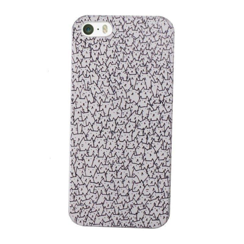 Plastový kryt pre iPhone 5/5S/SE CATS