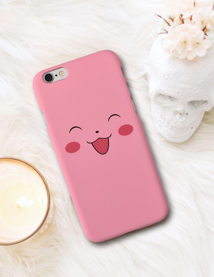 Plastový kryt na iPhone 6/6S PINK SMILE