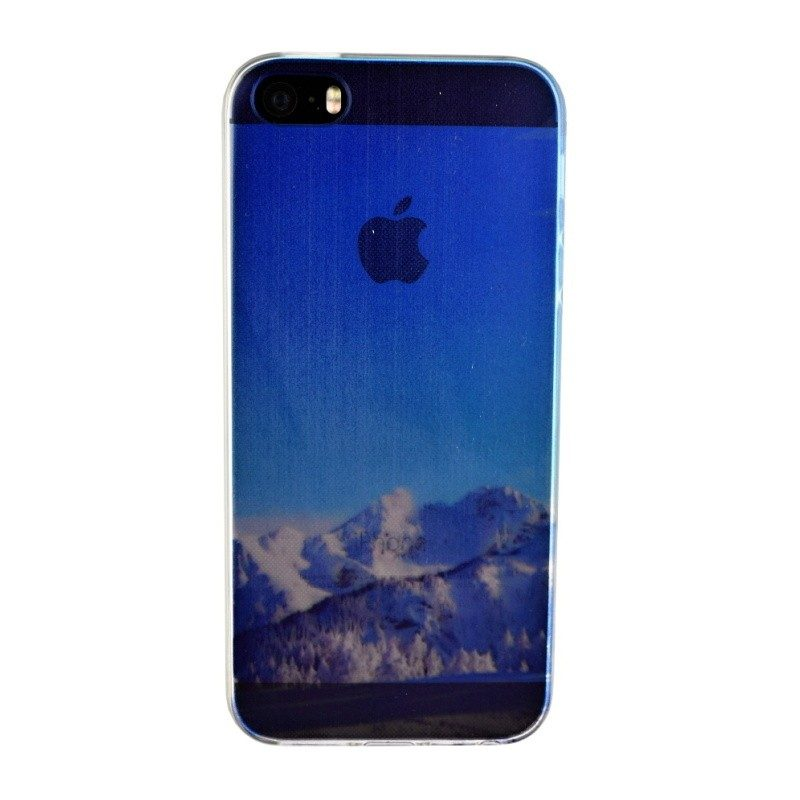Silikónový kryt pre iPhone 5/5S/SE MOUNTAIN