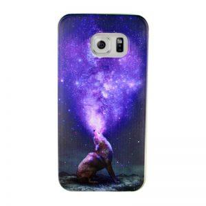 Silikónový kryt pre Samsung Galaxy S6 Edge WOLF