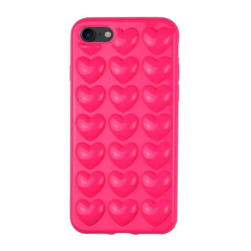 Silikónový 3D kryt pre iPhone 7/8 HEART