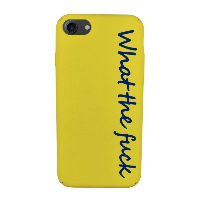Plastový kryt pre iPhone 7/8 WHAT THE