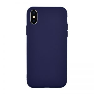 Silikónový kryt pre iPhone X NAVY BLUE