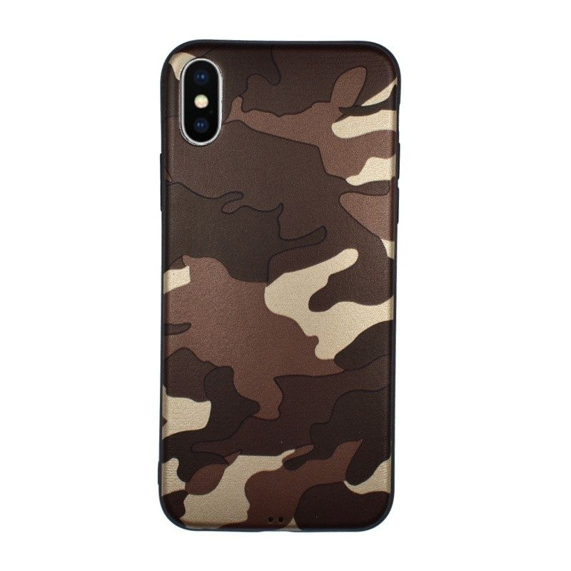 Silikónový kryt pre iPhone X CAMOUFLAGE