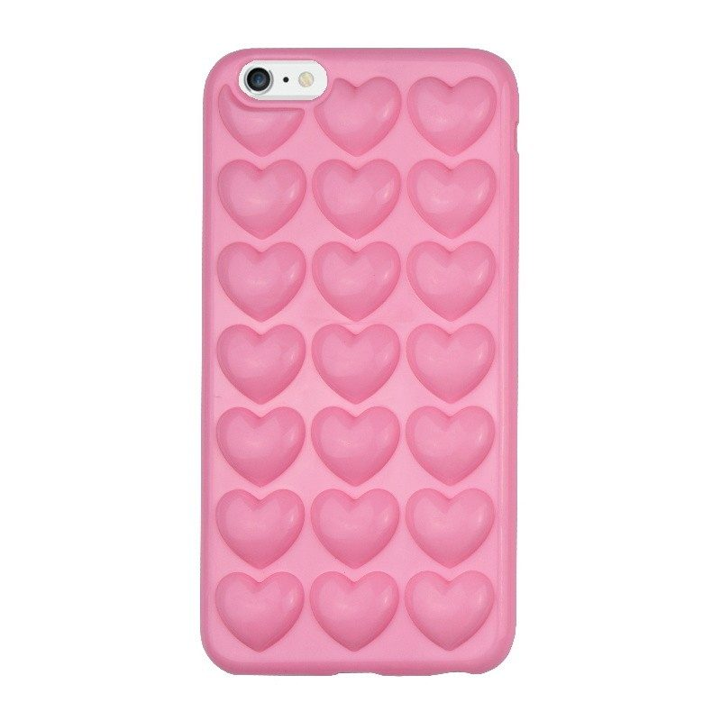 Silikónový 3D kryt pre iPhone 6/6S Plus HEARTS