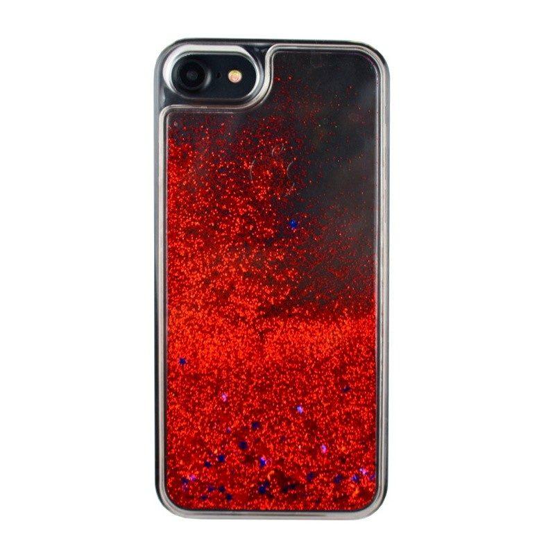 Presýpací plastový kryt pre iPhone 7/8 RED