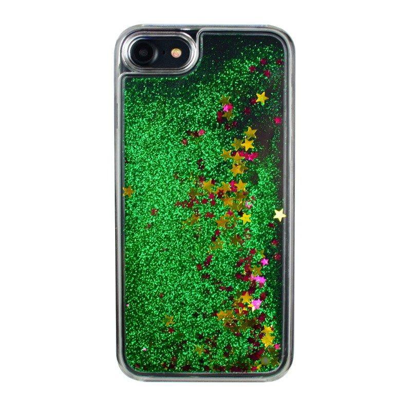 Presýpací plastový kryt pre iPhone 7/8 GREEN