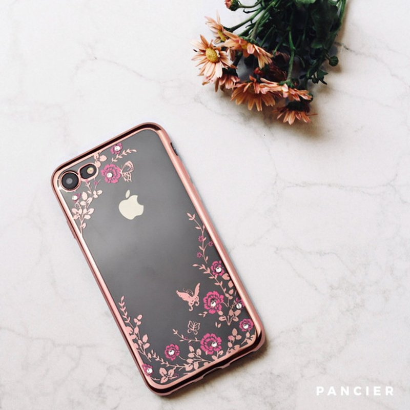 Silikónový kryt na iPhone 7/8/SE 2 FLOWERS ROSES