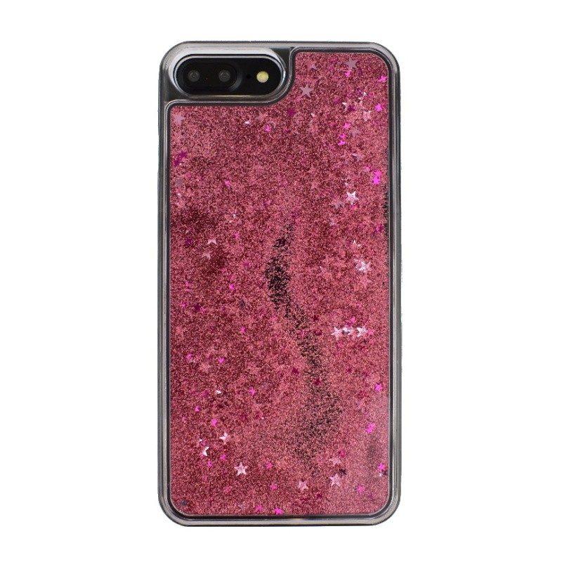 Presýpací plastový kryt pre iPhone 7/8 Plus PINK