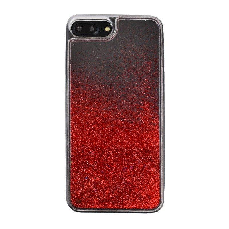 Presýpací plastový kryt pre iPhone 7/8 Plus RED