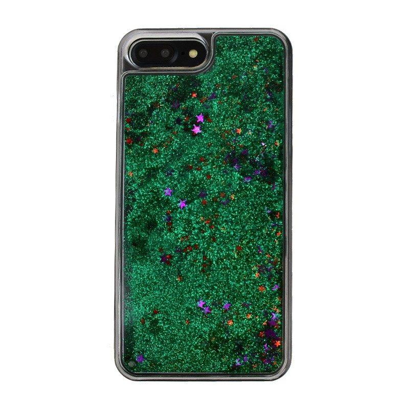 Presýpací plastový kryt pre iPhone 7/8 Plus GREEN