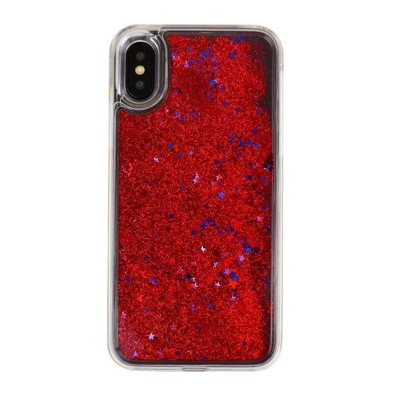 Presýpací plastový kryt pre iPhone X RED