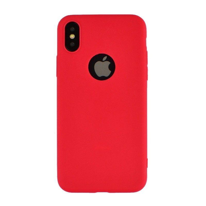 Silikónový kryt pre iPhone X RED