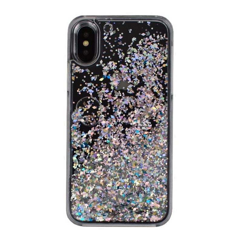 Presýpací plastový kryt pre iPhone X SILVER