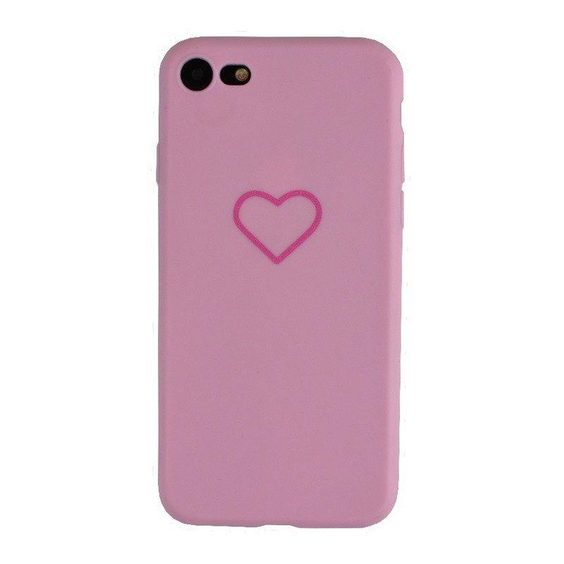 Silikónový kryt pre iPhone 7/8 PINK HEART