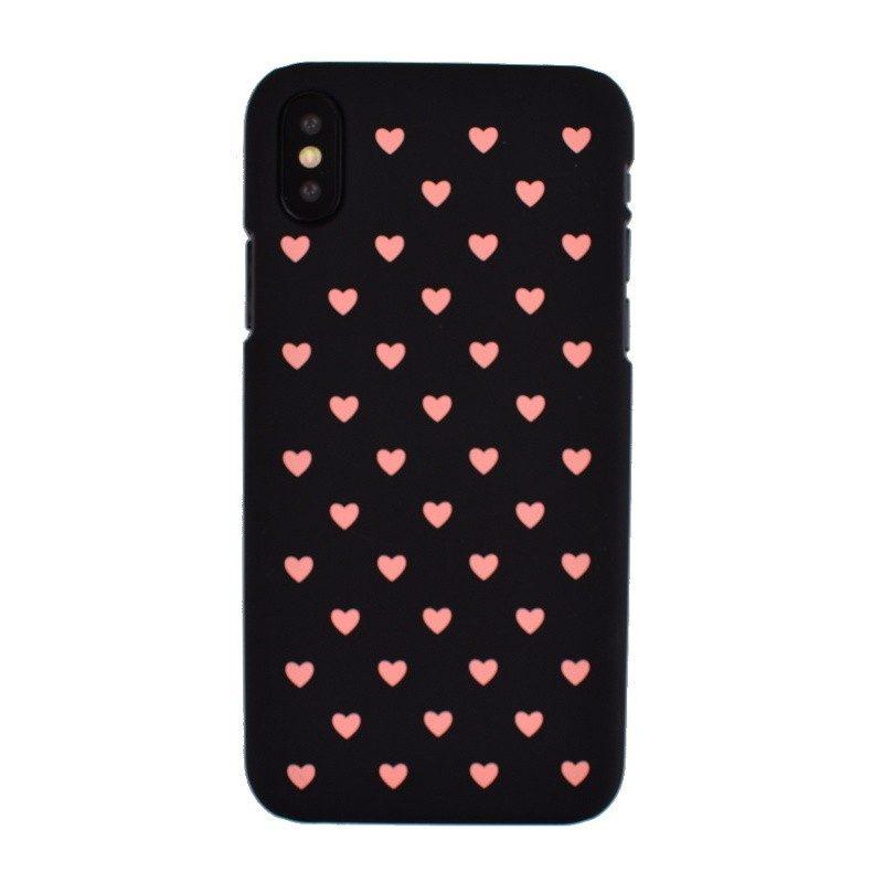 Plastový kryt pre iPhone X PINK HEART