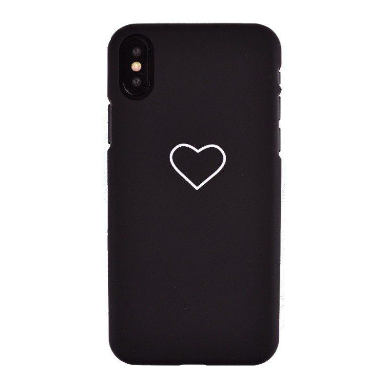 Plastový kryt pre iPhone X WHITE HEART