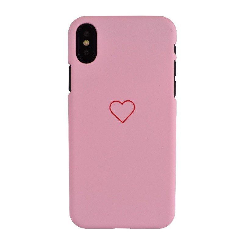 Plastový kryt pre iPhone X HEART