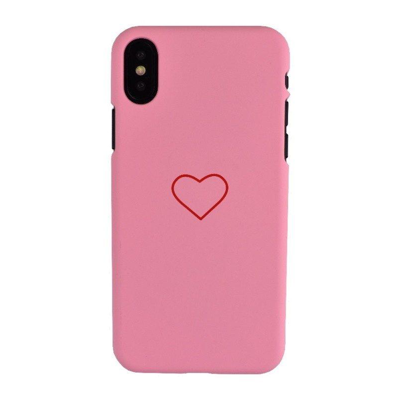 Plastový kryt pre iPhone X BIG HEART