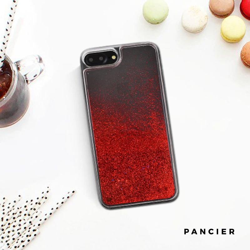 Plastový kryt na iPhone 7/8 Plus presýpací RED DARK