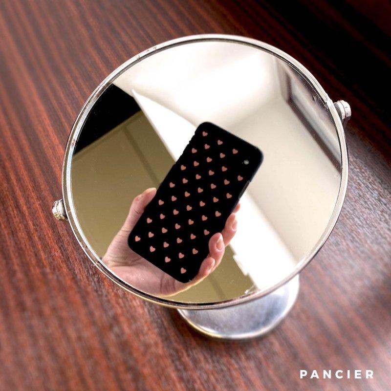 Plastový kryt na iPhone X/XS PINK HEART BLACK